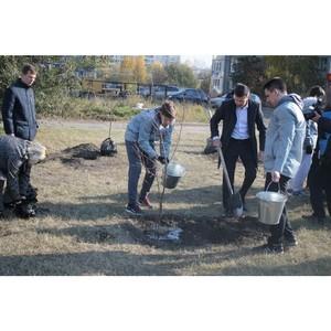 оманда Ђћолодежки ќЌ'ї в урганской области прин¤ла участие в акци¤х по посадке деревьев