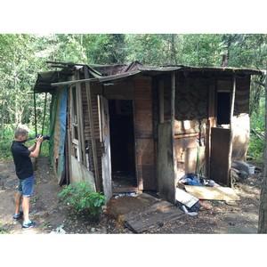 В Чеховском районе обнаружили нелегальное поселение бездомных граждан