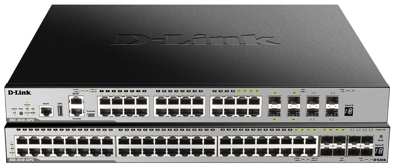 Коммутаторы нового поколения D-Link DGS-3630-28PC, DGS-3630-52PC с PoE