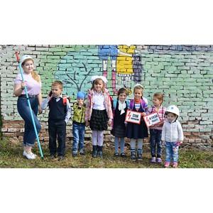 Юные художники раскрасили трансформаторную подстанцию в Кемеровском районе