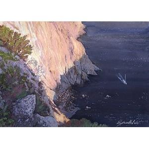 Картинки с выставки: «Скалы, освещенные вечерним Солнцем»