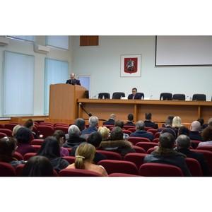 Врио начальника окружного Управления Зеленограда отчитался перед гражданами по итогам 2017 года