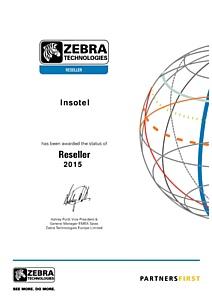 Zebra подтверждает официальный партнерский статус Инсотел - Zebra Reseller 2015