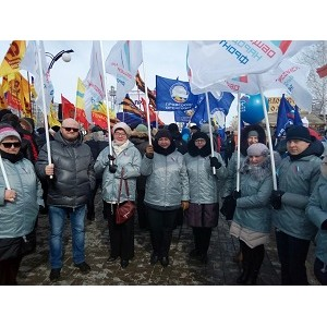 Оренбургские активисты ОНФ приняли участие в праздновании годовщины воссоединения Крыма с Россией