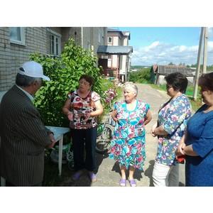 Костромские активисты ОНФ проверили ход благоустройства городской среды в Солигаличе