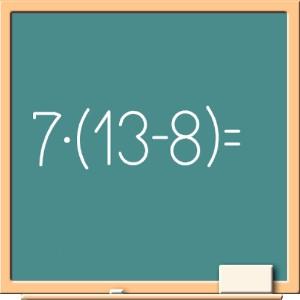 Математика на доске