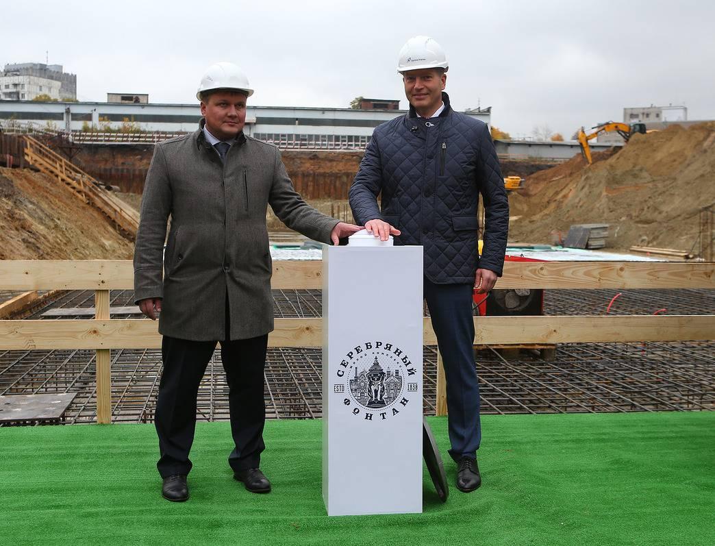 Первый бетон залит в фундамент ЖК «Серебряный фонтан»