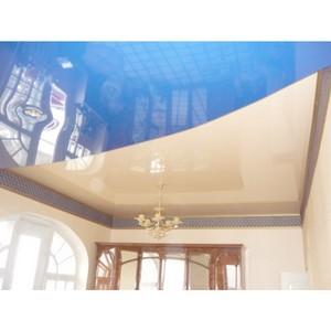 Зеркальный потолок - эффектная натяжная конструкция