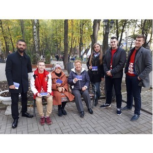 Московская команда «Молодежки ОНФ» собрала поздравления для президента России