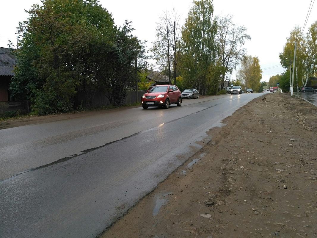 После сигнала ОНФ устранили опасную дорожную трещину на Ульяновской улице в Кирове