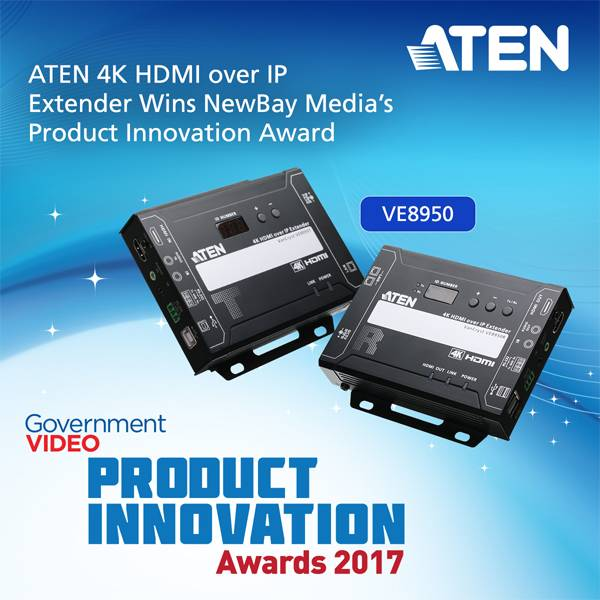 4K HDMI over IP Extender Aten VE8950 получил Product Innovation Award 2017