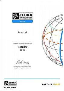 Инсотел сообщает о подтверждении статуса официального Реселлера Zebra