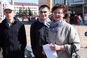 Ко Дню Победы активисты ОНФ Мордовии провели в Саранске флешмоб