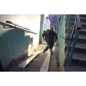 Активисты ОНФ в Мордовии добились установки пандуса в доме инвалида из Саранска