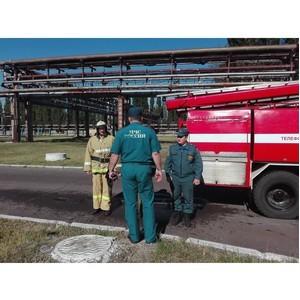 На Липецкой ТЭЦ-2 прошли совместные учения «Квадры» и МЧС