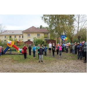 При поддержке ОМК у школы-интерната в Чусовом появилась спортивная площадка