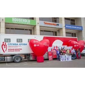 В преддверии Международного женского дня LG и «Техносклад.рф» провели День донора в Краснодаре