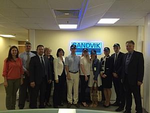 Компания Sandvik Mining принимает в гостях Шведское посольство