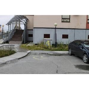 Благодаря ОНФ парковки социальных объектов Салехарда стали доступнее для инвалидов