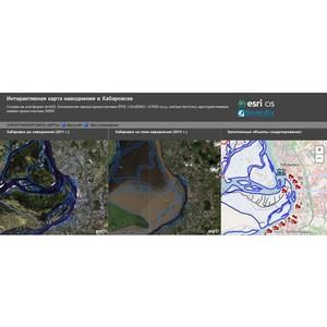 Esri CIS: карта наводнения в Хабаровске