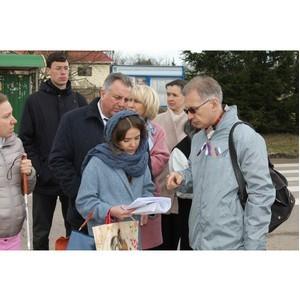 Активисты ОНФ добиваются благоустройства безбарьерной среды вокруг Дома слепоглухих в Новой Москве