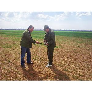 Волгоградские аграрии обследуют почву, чтобы получать хороший урожай