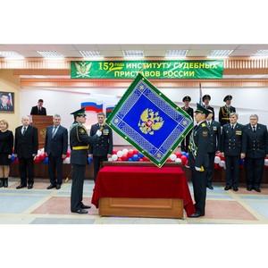 В Управлении состоялась церемония прибивки полотнища знамени к древку