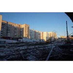 На первом в Архангельске жилом комплексе эко-класса завершается забивка свай