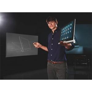Эштон Кутчер представил первый в своем роде планшет-трансформер Yoga Tablet от Lenovo