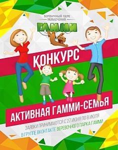 """Конкурс «Активная Гамми-семья» в парках """"Гамми"""". В наш День Рождения подарки дарим мы!"""