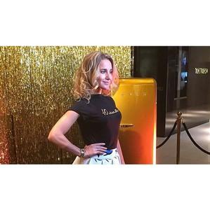 Золотой холодильник Smeg блистает на вечеринке InStyle Charity Beauty Bar в ЦУМе
