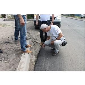 Эксперты ОНФ в Волгоградской области проверили ход ремонта дорог, отмеченных на интерактивной карте