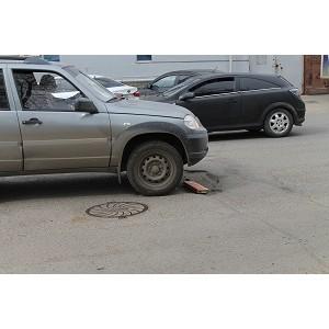 Активисты Народного фонта провели рейд по «убитым» дорогам Оренбурга