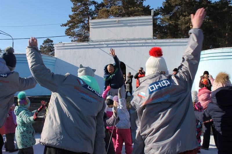 Челябинские активисты ОНФ провели акцию «Зарядка со звездой»