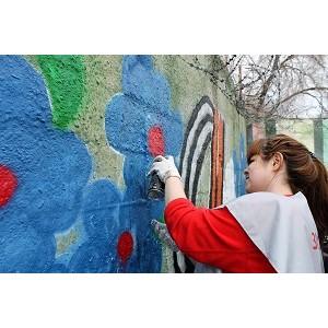 Оренбург присоединился к акции Народного фронта по созданию патриотических граффити