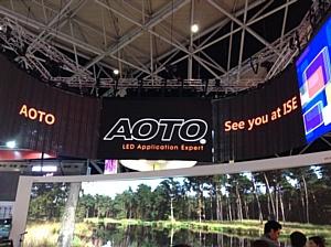 Мировая премьера CLD - коммерческих светодиодных дисплеев AOTO на ISE-2015