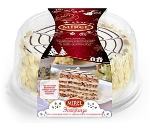 В честь Нового Года торговая марка «Мирэль» подготовила торты в специальной, праздничной упаковке