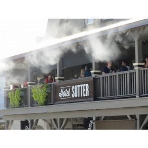 Охлаждение, увлажнение и защита от пыли, запахов и комаров на летних верандах ресторанов и кафе