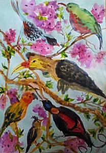 Выставка живописи художника Анны Харько совместно с учениками, юными художниками