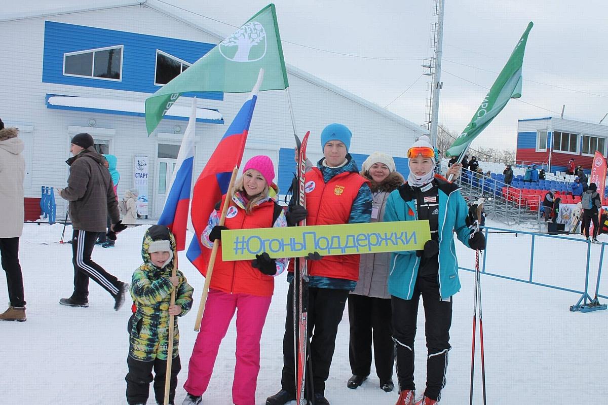 Активисты ОНФ на Камчатке приняли участие в лыжном забеге в поддержку российских олимпийцев