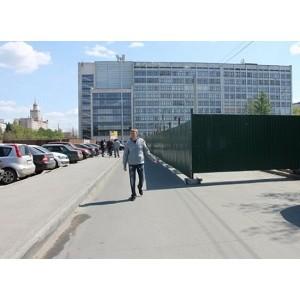 Чиновники Челябинска ответили на обращение ОНФ с просьбой убрать забор у памятника Курчатову