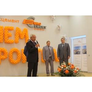 Глава города Липецка поздравил работников «Липецкцемента» с Днем строителя