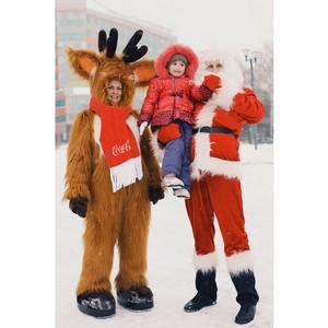 Медведи и олени поздравили новосибирцев с Новым годом
