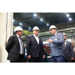 Врио губернатора Кузбасса Сергей Цивилев посетил КВРП «Новотранс» в Прокопьевске