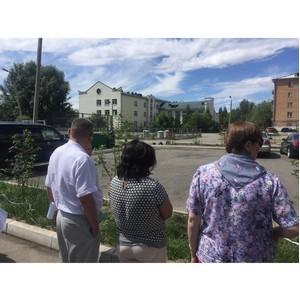 Активисты ОНФ в Туве проверяют состояние дворов, благоустроенных в 2017 году