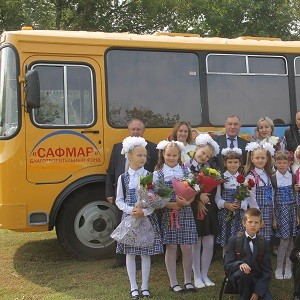 БФ «Сафмар» Михаила Гуцериева приобрел автобус для учащихся сельской школы