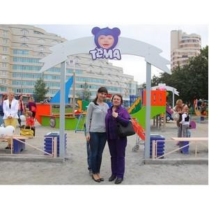 Danone совместно с коммуникационным агентством Форсайт открыли в Екатеринбурге детскую площадку