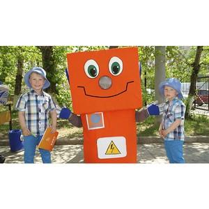 Робот Вольтик поздравил маленьких читинцев с Днем защиты детей