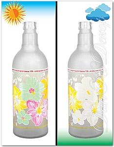 Декорирование бутылок: печать фотохромом