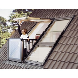 Обновленный Velux Cabrio®: инновационное раскладное окно-балкон для мансарды
